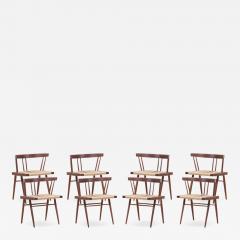 George Nakashima Set of Eight Grass Seated Dining Chairs by George Nakashima - 1135769