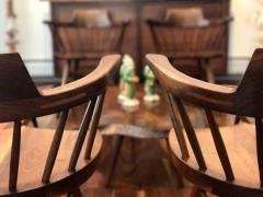 George Nakashima Chairs george nakashima - set of four captain chairsgeorge nakashima