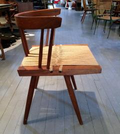 George Nakashima Chairs george nakashima - set of four walnut and woven seat chairs