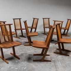 George Nakashima Set Of Ten Conoid Chairs By George Nakashima 1982   440480
