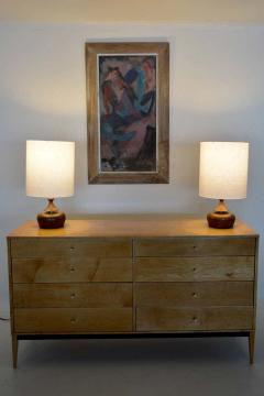 George Nakashima Solid Walnut Pair of Table Lamps Nakashima Simple Style Mid Century 1950s USA - 1646500