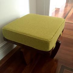 George Nakashima Walnut Greenrock Stool or Bench with Cushion by George Nakashima - 81194