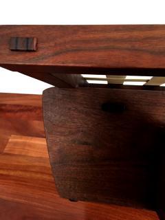 George Nakashima Walnut Greenrock Stool or Bench with Cushion by George Nakashima - 81196