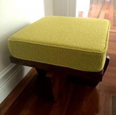 George Nakashima Walnut Greenrock Stool or Bench with Cushion by George Nakashima - 81198