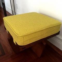 George Nakashima Walnut Greenrock Stool or Bench with Cushion by George Nakashima - 81199