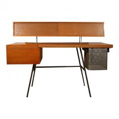 George Nelson George Nelson Wood and Leather Office Desk for Herman Miller - 1108074
