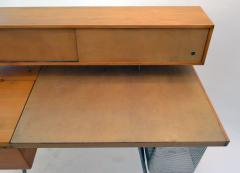 George Nelson George Nelson Wood and Leather Office Desk for Herman Miller - 1108075