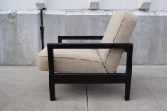 George Nelson Open Arm Ebonized Lounge Chair by George Nelson for Herman Miller - 805053