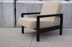 George Nelson Open Arm Ebonized Lounge Chair by George Nelson for Herman Miller - 805054