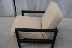 George Nelson Open Arm Ebonized Lounge Chair by George Nelson for Herman Miller - 805055