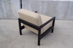 George Nelson Open Arm Ebonized Lounge Chair by George Nelson for Herman Miller - 805057