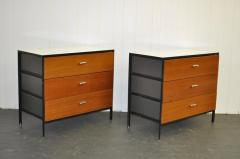 George Nelson Pair of George Nelson Steel Frame Dressers - 355018