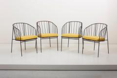 George Nelson Set of Four Iron Rod Outdoor Chairs by George Nelson for Arbuck 1950s - 1134909