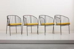 George Nelson Set of Four Iron Rod Outdoor Chairs by George Nelson for Arbuck 1950s - 1134910