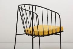 George Nelson Set of Four Iron Rod Outdoor Chairs by George Nelson for Arbuck 1950s - 1134917
