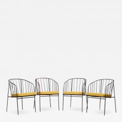 George Nelson Set of Four Iron Rod Outdoor Chairs by George Nelson for Arbuck 1950s - 1135774