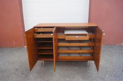 George Nelson Thin Edge Walnut Gentlemans Chest by George Nelson for Herman Miller - 2115628