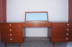George Nelson Walnut Double Dresser with Vanity by George Nelson for Herman Miller - 2083259