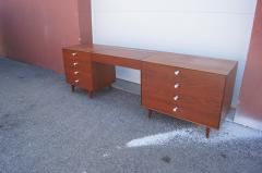 George Nelson Walnut Double Dresser with Vanity by George Nelson for Herman Miller - 2083261