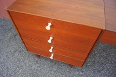 George Nelson Walnut Double Dresser with Vanity by George Nelson for Herman Miller - 2083262