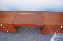 George Nelson Walnut Double Dresser with Vanity by George Nelson for Herman Miller - 2083265