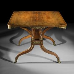 George Oakley 19th Century Regency Rosewood Ormolu Library Table circa 1815 - 1090262