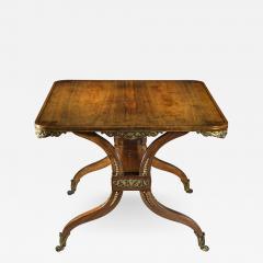 George Oakley 19th Century Regency Rosewood Ormolu Library Table circa 1815 - 1091011