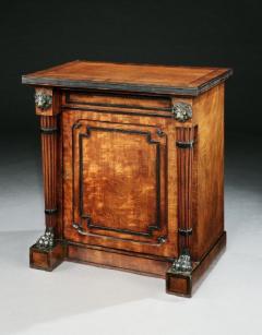 George Oakley Regency Period Mahogany and Ebony Inlaid Cabinet - 1149147