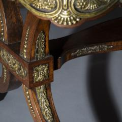George Oakley Regency Rosewood Ormolu Mounted Center Table attributed to George Oakley - 1049154