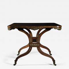 George Oakley Regency Rosewood Ormolu Mounted Center Table attributed to George Oakley - 1050875
