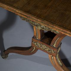 George Oakley Regency Rosewood Ormolu Mounted Library Table attributed to George Oakley - 1022552