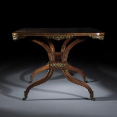 George Oakley Regency Rosewood Ormolu Mounted Library Table attributed to George Oakley - 1022553