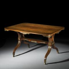 George Oakley Regency Rosewood Ormolu Mounted Library Table attributed to George Oakley - 1022558