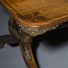 George Oakley Regency Rosewood Ormolu Mounted Library Table attributed to George Oakley - 1022559