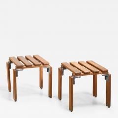 Georges Candilis Georges Candilis Anja Blomstedt pair of Lattes stools France 1968 - 1186759