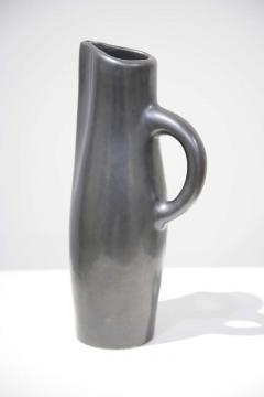 Georges Jouve Vase Cylindre and Pichet Noir Ceramic Vase andPpitcher - 528433