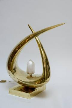 Georges Mathias Imposing and Sculptural Table Lamp Signed by Georges Mathias - 727254
