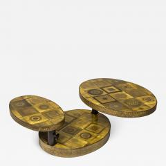 Georges Pelletier Georges Pelletier Ceramic Coffee Table for Roche Bobois circa 1970 France - 1032558