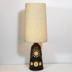 Georges Pelletier Mid Century Modern Handpainted Cut Out Ceramic Table Lamp by Georges Pelletier - 1802322
