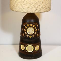 Georges Pelletier Mid Century Modern Handpainted Cut Out Ceramic Table Lamp by Georges Pelletier - 1802323