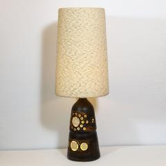 Georges Pelletier Mid Century Modern Handpainted Cut Out Ceramic Table Lamp by Georges Pelletier - 1802327