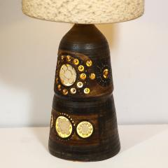 Georges Pelletier Mid Century Modern Handpainted Cut Out Ceramic Table Lamp by Georges Pelletier - 1802328