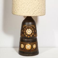 Georges Pelletier Mid Century Modern Handpainted Cut Out Ceramic Table Lamp by Georges Pelletier - 1802329