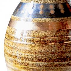 Georges Pelletier Table lamp with sandy glazing and gilded stripes by Georges Pelletier - 1137752