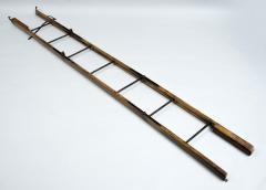 Georgian Ash and Iron Hinged Folding Ladder Circa 1830 - 811368