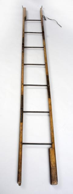 Georgian Ash and Iron Hinged Folding Ladder Circa 1830 - 811369