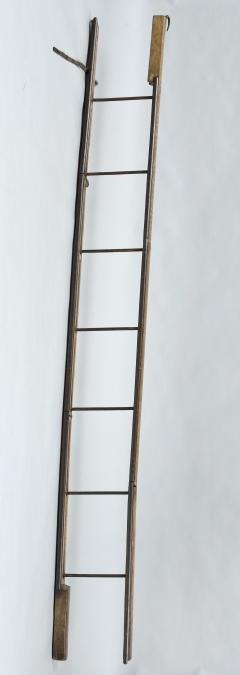 Georgian Ash and Iron Hinged Folding Ladder Circa 1830 - 811370