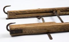 Georgian Ash and Iron Hinged Folding Ladder Circa 1830 - 811373