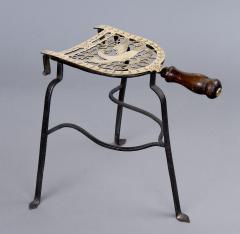 Georgian Brass and Iron Trivet Circa 1810 - 261532