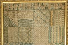 Georgian Embroidered Darning Sampler circa 1797 - 1745187